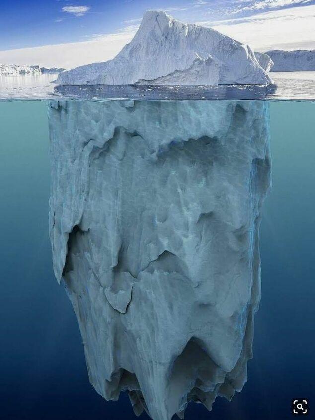 Side Profile of an Iceberg