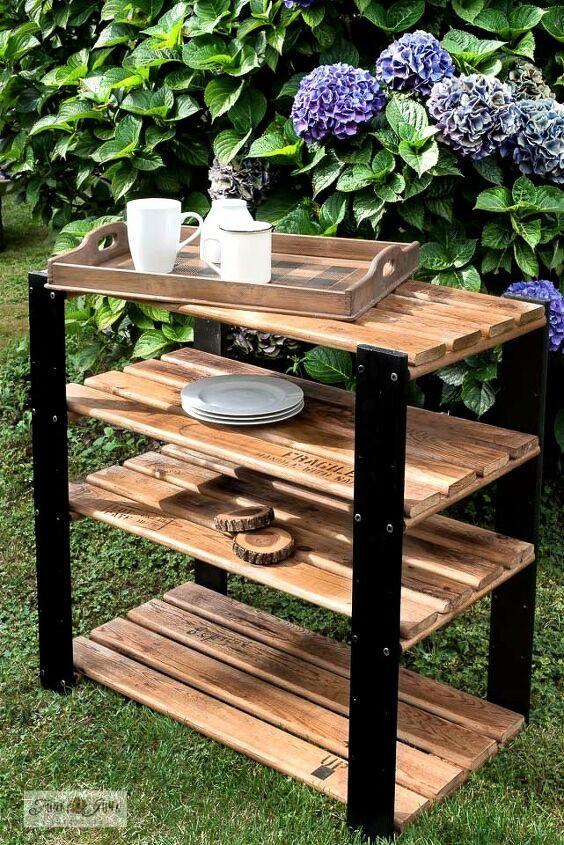 flip a standard shelf into an industrial crate styled beauty