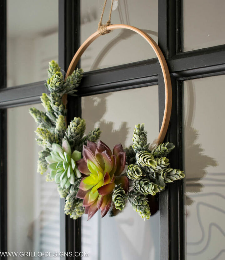 diy minimal wreath