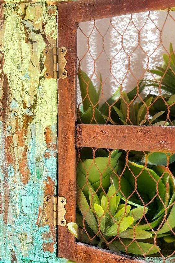 turn picture frames into faux rusty windows