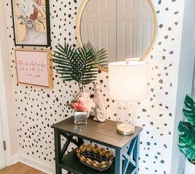 Diy Dalmatian Accent Wall Entryway Makeover Hometalk