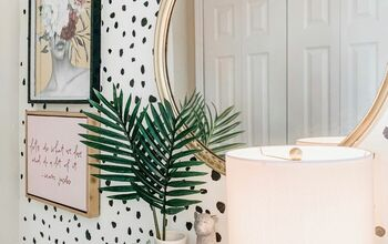 DIY Dalmatian Accent Wall + Entryway Makeover