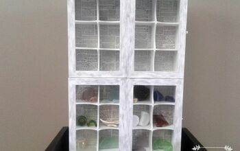 Curio Wall  Cabinet Made From Dollarstore Tea Boxes