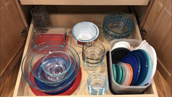 kitchen container storage and organization