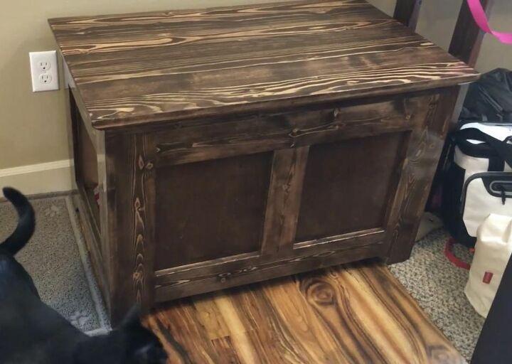 diy blanket chest style hidden litter box
