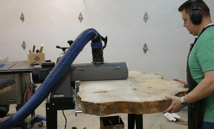 Sand with a Drum Sander