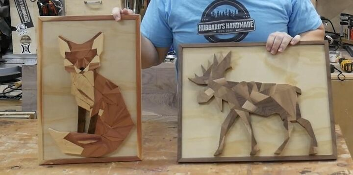 Geometric Wood Animals