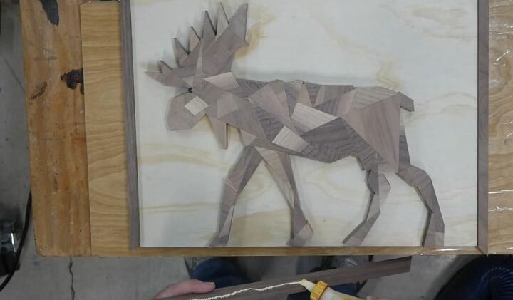 diy geometric animals wood art