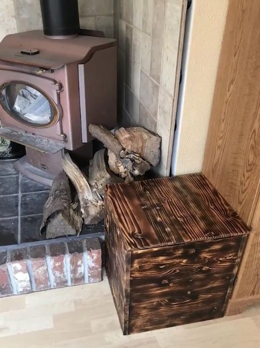 DIY Burned Finish Kindling Box