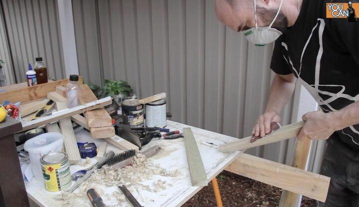 Sand and Attach Trellis Frame Pieces
