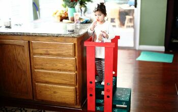 DIY Toddler Step Stool With Guard Rail