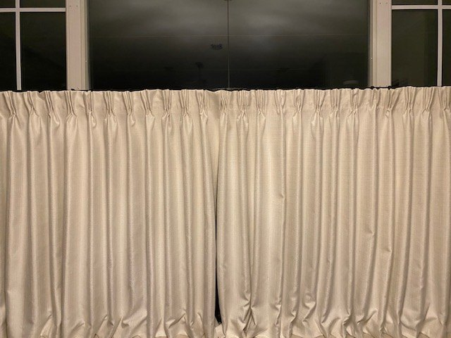 no sew pleated curtains
