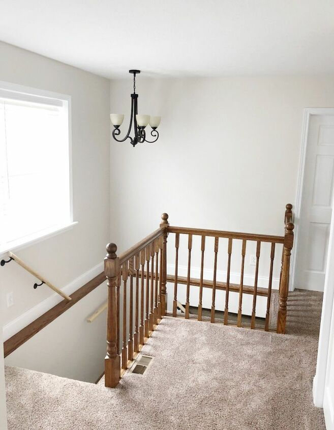 diy peel and stick shiplap hallway reveal