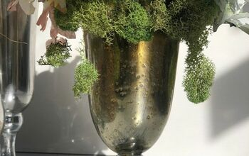 Spring  Moss Mercury Glass DIY