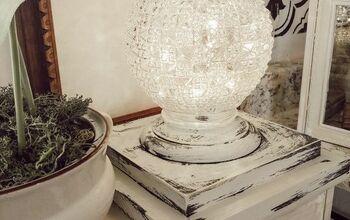 Basket Light Fixture and Fairy Light Globe.