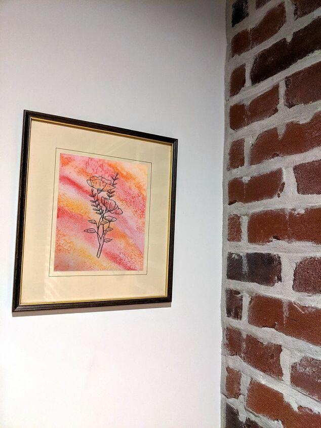 watercolour salt wall decor