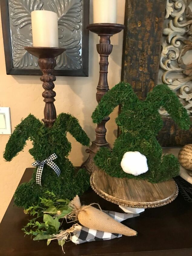 dollar tree moss bunnies