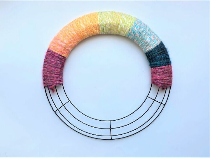 colorful rainbow wreath