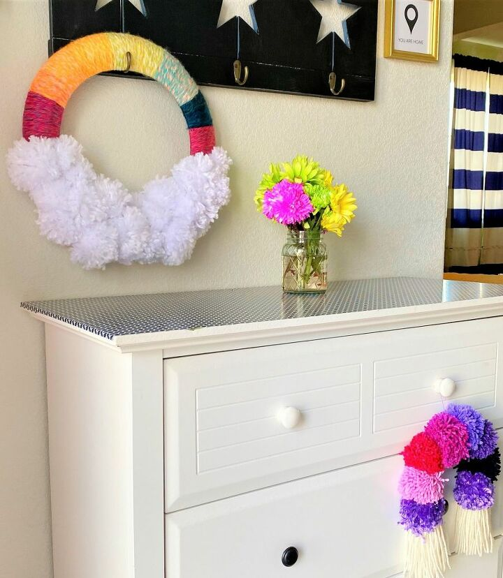 colorful rainbow wreath