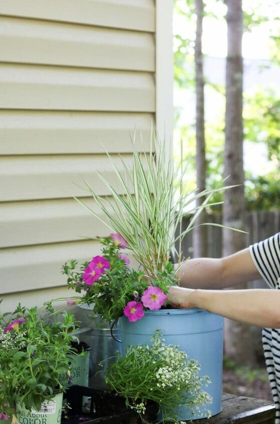 filling a large planter with the right plants