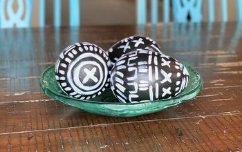 Painted Mud Cloth Easter Eggs