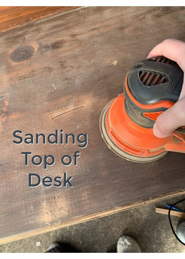 how to chalk paint a desk