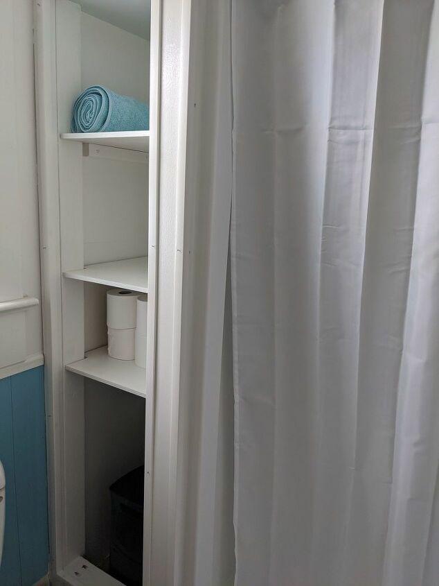 bathroom refresh shower storage spring2020refresh