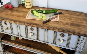 How To Turn An Old Dresser Into A Kitchen Island/Storage Piece