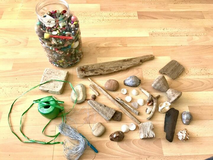 how to make a beautiful piece of wall art from beach finds, Beach finds