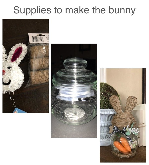 my dollar tree bunny cloche