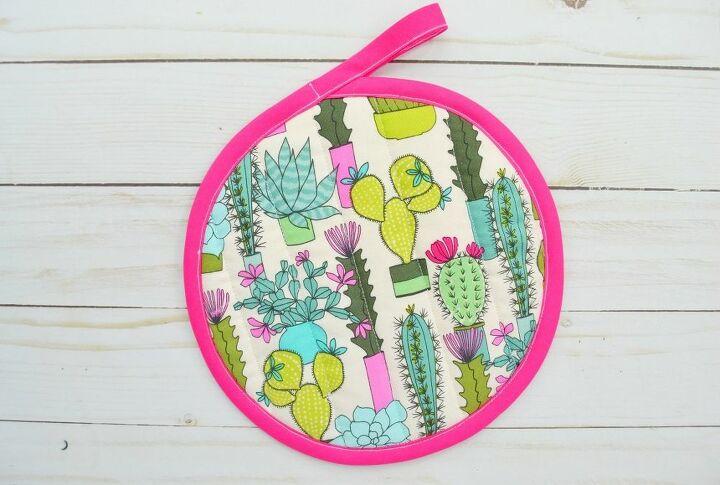 how to sew a circular potholder