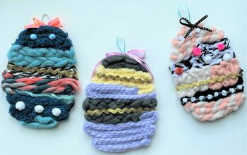 Faux Woven Easter Eggs