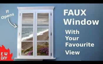 Faux Window Frame With a View
