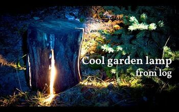 Make an Amazing Garden Lamp With Your Chainsaw