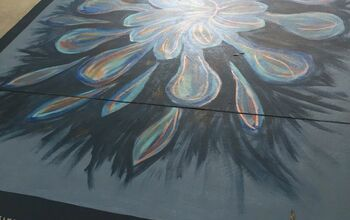 Painting a Rug on Concrete