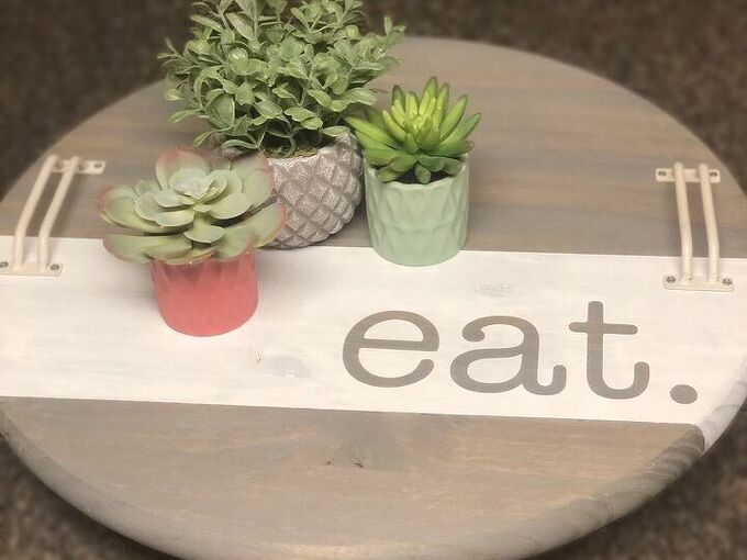 wooden dish tray stand