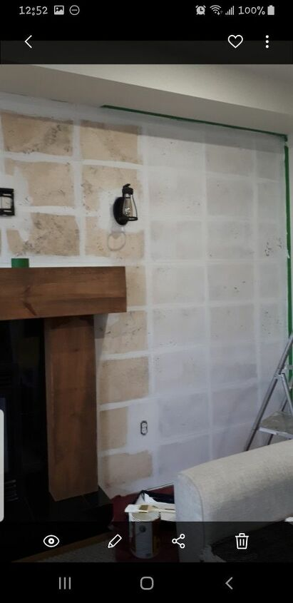 Paint any grout lines first