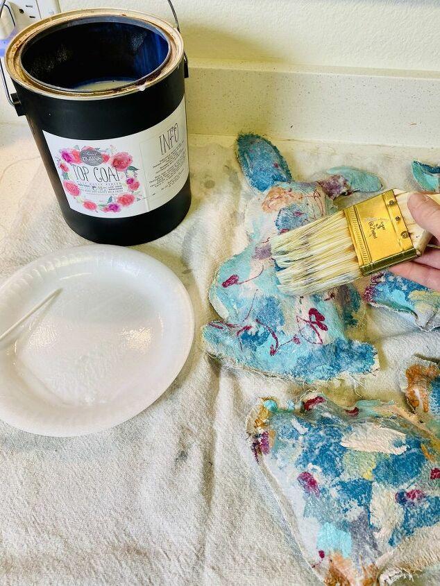 painted drop cloth bunnies