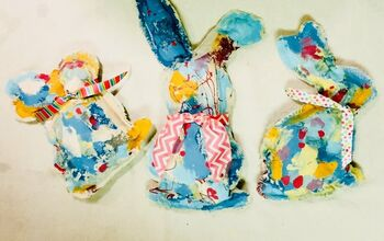 Painted Drop Cloth Bunnies!