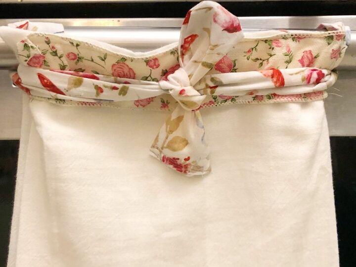 easy hanging kitchen towel hack