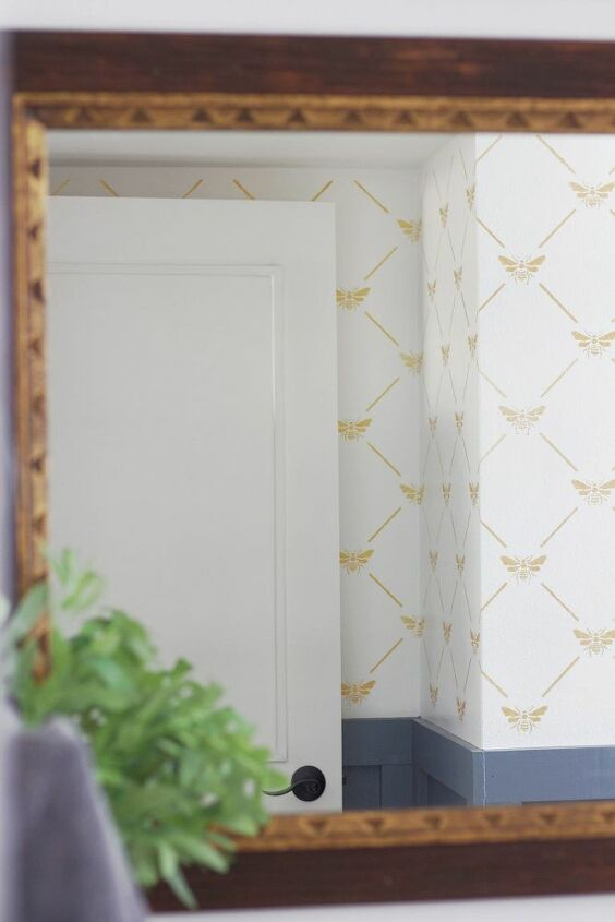 farmhouse bathroom transformation with revolution stencil