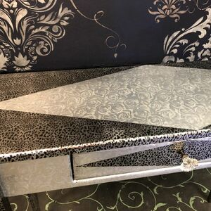 Metallic Foil Sofa Table