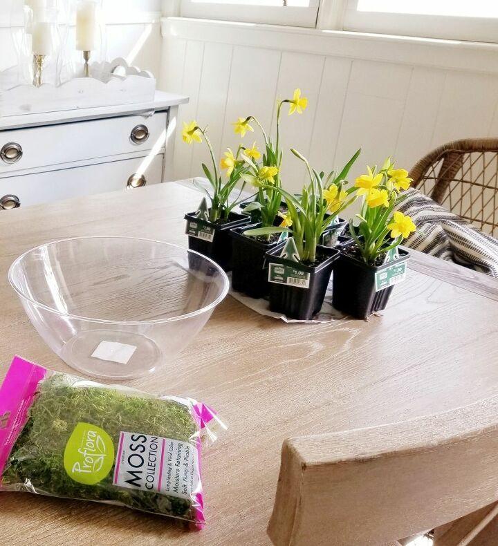 super simple spring centerpiece