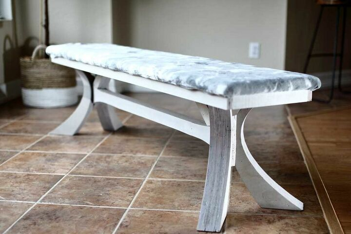 how to build a diy dining table bench with curved legs