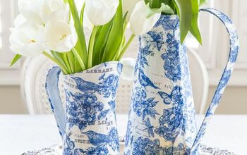 Blue And White Decor: DIY Spring Chinoiserie Paper Craft