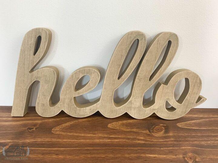 Hello Wood Cutout