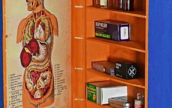 Upcycled Wine Box Into A Medicine Cupboard