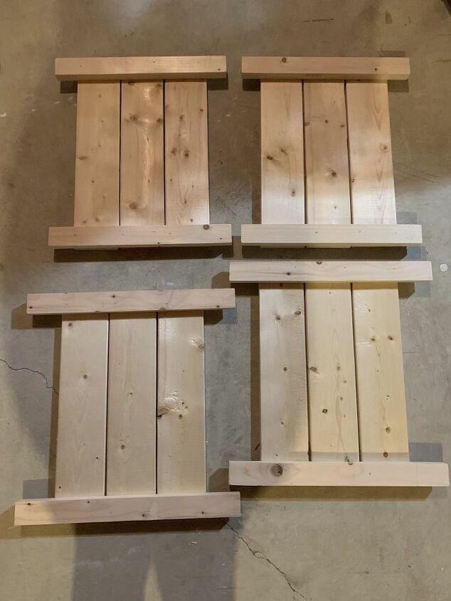 wood porch pot planter box
