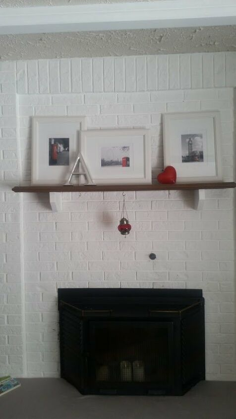 diy rustic beam mantel