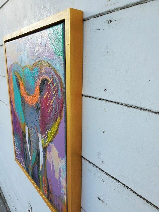 custom deep floating gallery frame